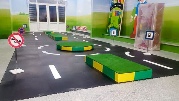 پیست ماشین کودک با بلوار و میدان